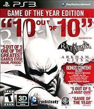 "BATMAN ARKHAM CITY PS3 ""GAME OF THE YEAR EDITION"""