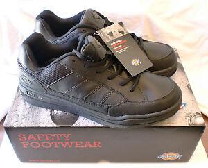 Dickies Men S Athletic Skate Slip Resisting Work Shoe Sr4215 Black Ebay