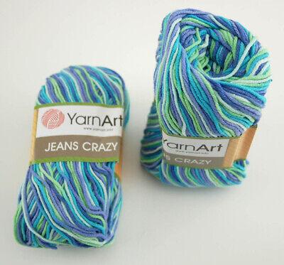 YarnArt Jeans Crazy Türkische Wolle Farbverlauf Strickgarn 500g 10x50g