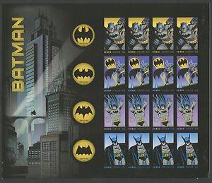 "#4935a ""BATMAN"" IMPERF PANE OF 20 BS5582"