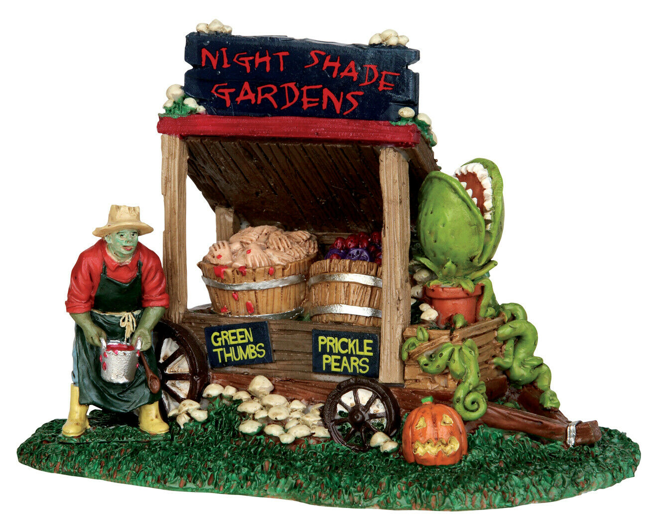 Lemax Spooky Town Night Shade Garden Cart #53201 NIP