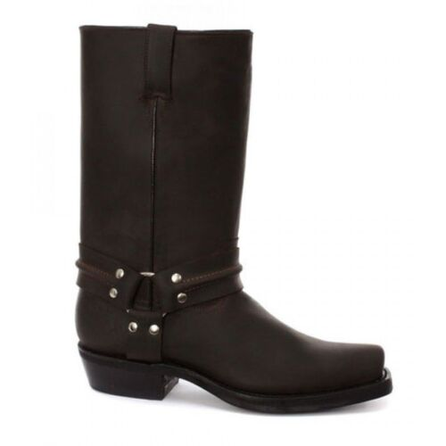 High Cowboy Hi Boot Grinders Western Harness Unisex Brown Boot Bikers HzzqwY