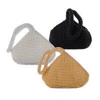 New Fashion Women Alumium Sequins Evening Clutch Bag Party Wedding Purse Handbag