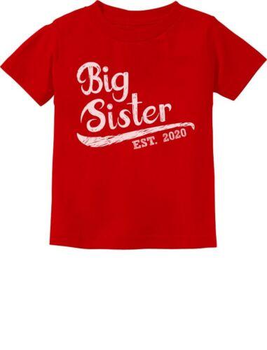 Sibling Gift Idea Toddler Kids T-Shirt Daughter Big Sister Est 2020