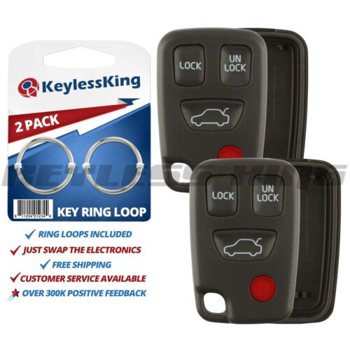 2 New Replacement Keyless Entry Remote Shell Key Fob Case Housing For HYQ1512J