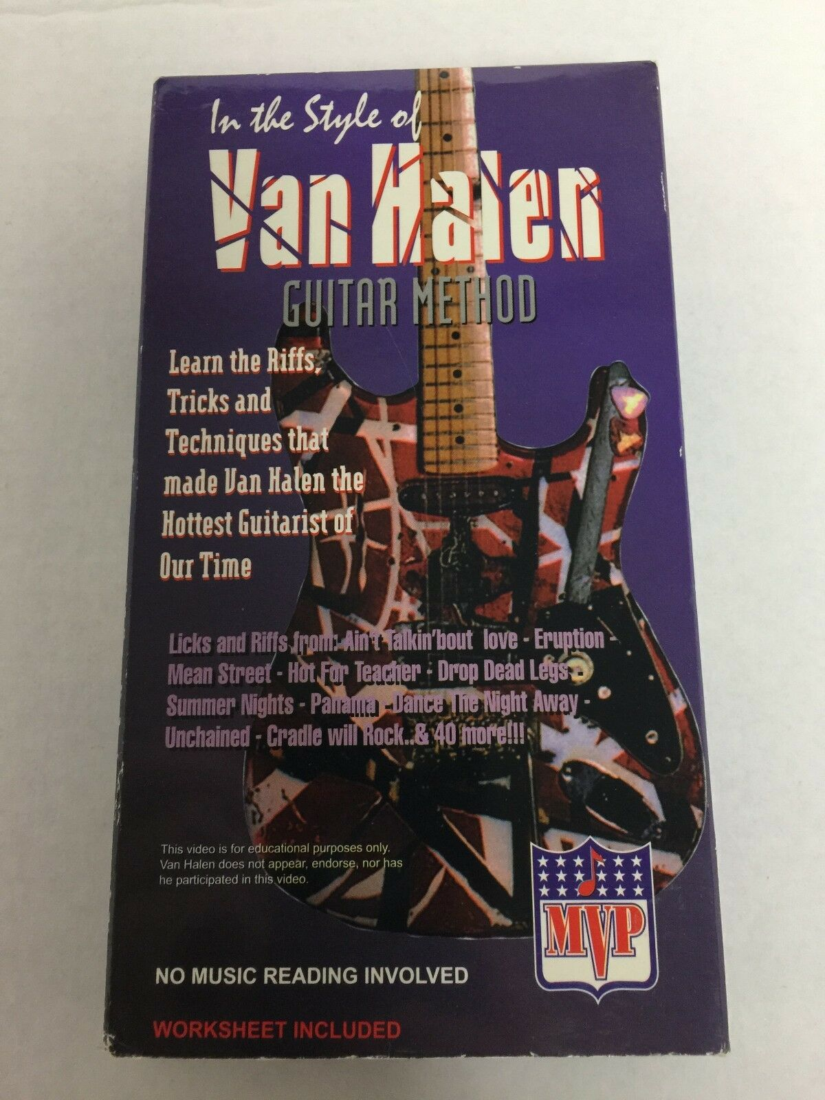 Guitar Method in the style of Van Halen VHS Video Tape