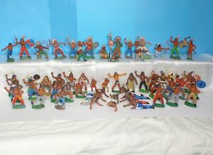 3-Vintage-rare-Collection-Rubber-Indians-55pcs-GDR-Germany-70-039-s