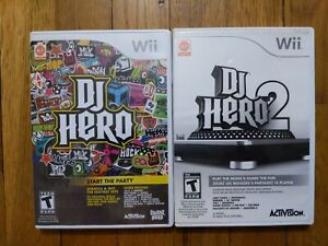 USED - DJ Hero 1 + 2 - Lot of 2 - Wii - Free Shipping