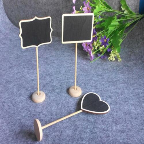 Stand Z 1//10x Mini Wooden Blackboard Chalkboard Stands Wedding Table Party