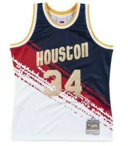 online store ca4dd 3a1a6 Details about Hakeem Olajuwon #34 Houston Rockets Mitchell Ness Mesh NBA  Independence Jersey