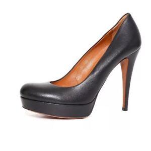 b8ac70f9beb Gucci Women s Black Leather Platform Round Toe Pumps 2774 Size 38.5G ...