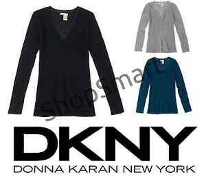 NEW-DKNY-Jeans-Women-039-s-Classic-V-Neck-Sweater-VARIETY
