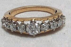 Antique-Diamond-18ct-Gold-Platinum-Ring