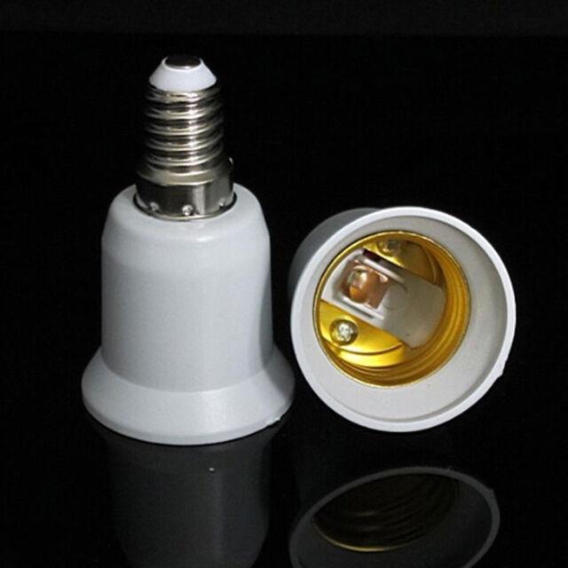 E14 to E27 Screw Socket Lamp Holder Extend Base LED Light Bulb Adapter Converter