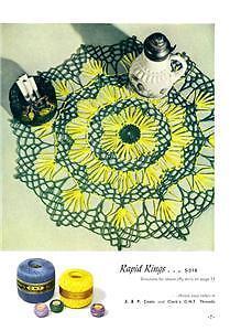 1952 Coats /& Clark # 283 New Ideas in Doilies on CD