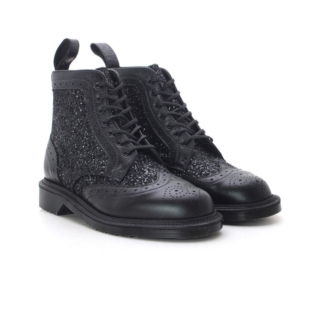 Dr. Martens Para Mujer 1460 Surya Negro Zapato Zapato Zapato Bajo De Cuero Limited Edition Mie NOS 9 EU 41 Uk 7  preferente