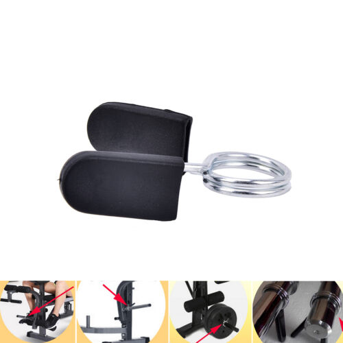 Standard BarBell Dumb Bell Lock Clamps Spring Collar Clips Weight Bar Gy PqYHY