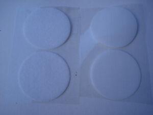 Bande agrippante adhesive Carré de 100x100mm scratch blanc autocollant
