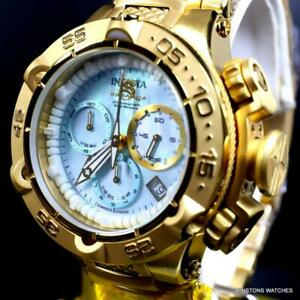Ladys-Invicta-Subaqua-Noma-V-Swiss-Made-Gold-Plated-Steel-MOP-42mm-Watch-New