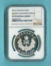 CANADA $20 2012 QUEENS DIAMOND JUBILEE ROYAL CYPHER NGC PF-70 ALL PCKG INC