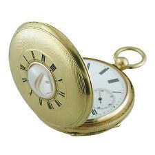 Henry Capt Geneve 18K Yellow Gold Pocket Watch Keywind Demi Hunter 1900