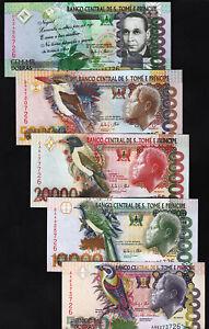 Saint Thomas -Sao Tome 5 Pcs SET, 5000 10000 20000 50000 100000 Dobras 2013, UNC