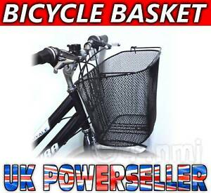 NEW-Bike-Bicycle-Wire-Front-SHOPPING-BASKET-with-Handle