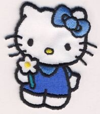 HELLO KITTY - blau - Aufnäher Aufbügler Applikation Patch Badge - OVP #9155