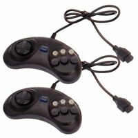 2 x Sega Mega Drive/Genesis/Master System Controller 6 Button Fighting Game Pad