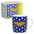 New DC Comics Wonder Woman Logo & Stars Mug Coffee Retro Justice League Official