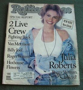 ROLLING STONE Magazine JULIA ROBERTS Van Morrison No. 584 August  9, 1990