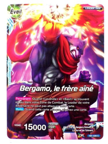 Dbs card tb1-026 c awakening Bergamo tournament of power dragon ball super card