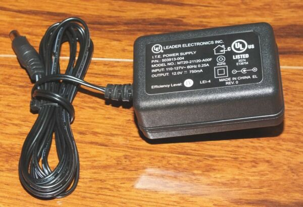 100% Kwaliteit (lei) Leader Electronics Inc. (mt20-21120-a00f) Ac Adapter Power Supply 12 Volts