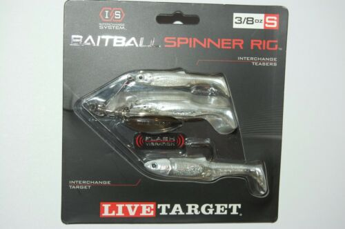 Koppers Live Target baitball Spinner Rig Blanc Perle Argent 3//8oz Small