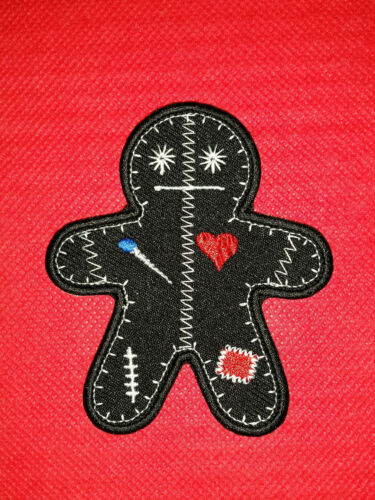 "ONE HALLOWEEN EMBROIDERED MORALE PATCH /""VOODOO GINGERBREAD MAN/"""