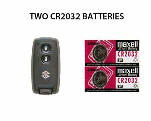 2 New Suzuki Splash Sx4 Swift Remote Key Fob Batteries Cr2032 Ebay