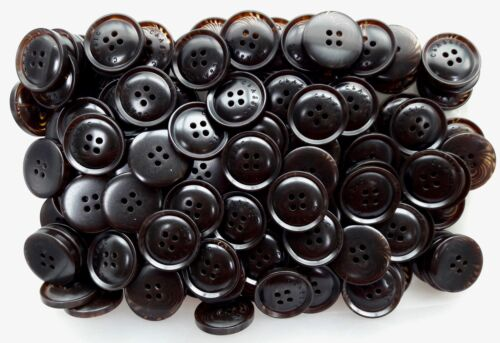 15mm 21mm 25mm 30mm Rich Dark Chocolate Brown Swirl 4 Hole Buttons Q103A-Q103D