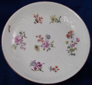 Antique 1740s 18thC Meissen Porcelain Floral Cup & Saucer Porzellan Tasse German
