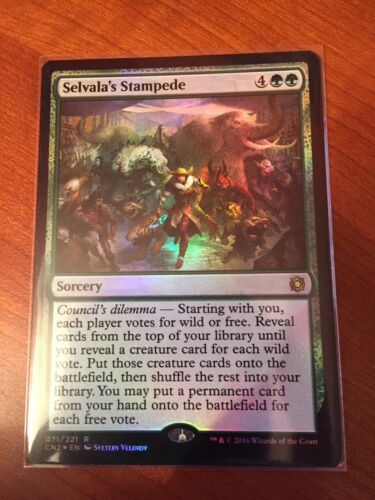 Selvala/'s Stampede ~ Foil ~ NM ~ Conspiracy Take the Crown ~ EDH ~ MTG ~ Magic