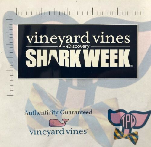 TPW NEW Authentic Discovery Shark Week Vineyard Vines Decal Sticker LAST ONES
