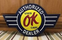 Ok Used Cars Chevrolet Authorized Coupe Chevy Coke Vintage Style Decor
