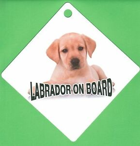 "On Board Dog Car Sign ""Labrador on Board"" Suction Cap provided"