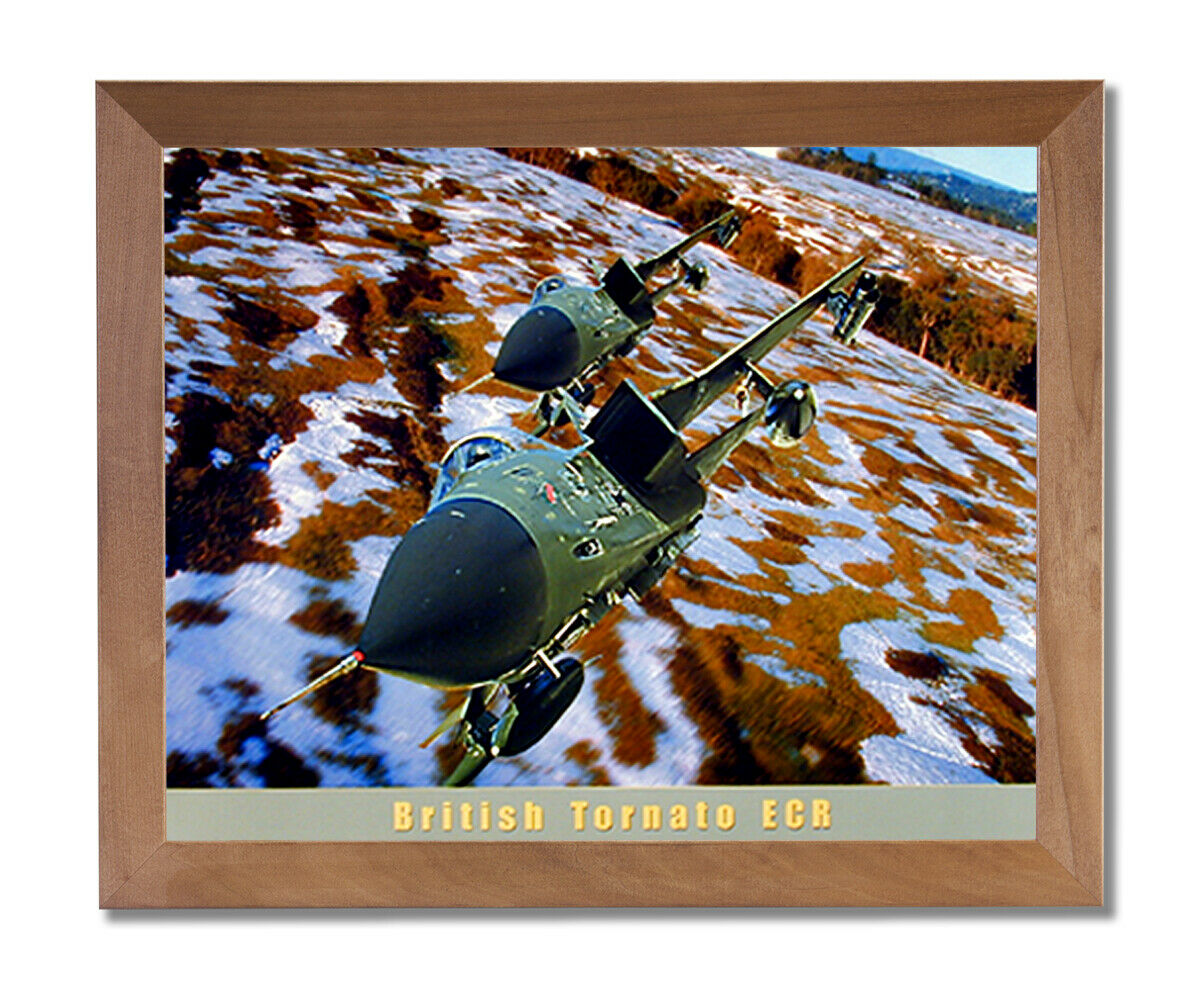 British Tornato Jet Airplane Wall Picture Honey Framed Art Print