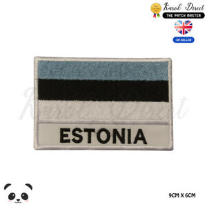 ESTONIA-National-Flag-With-Name-Embroidered-Iron-On-Sew-On-Patch-Badge