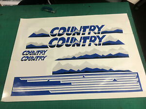 MK2 Golf Country Decal / Sticker Kit - BLUE - Screen Printed OEM Process