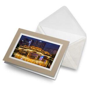 Greetings-Card-Biege-Chengdu-Sichuan-China-Bridge-3185