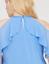 Lane-Bryant-Solid-Ruffled-Turquoise-halter-Top-PLUS-Size-14-16-18-20-22-24-26-28 thumbnail 2