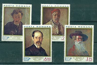 Romantic Arte Topical Stamps Art Romania 1972 Autoritratti Selfportaits Long Performance Life