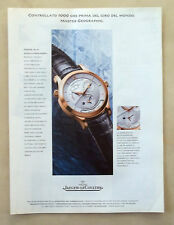 B498-Advertising Pubblicità-1999 - JAEGER LE COULTRE MASTER GEOGRAPHIC