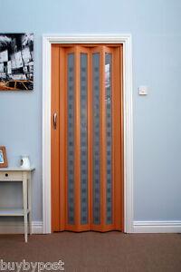 Concertina Folding Door Marley New Generation Beech Fully Glazed | eBay